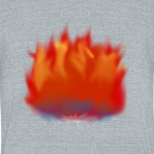 Burning - Unisex Tri-Blend T-Shirt by American Apparel