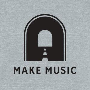 Make music - Unisex Tri-Blend T-Shirt by American Apparel