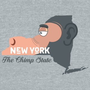 A funny map of New York - Unisex Tri-Blend T-Shirt by American Apparel