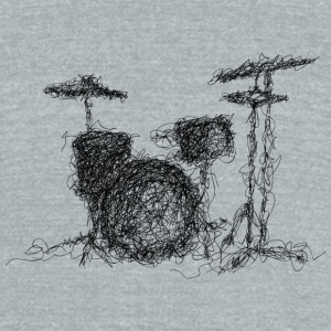 Drums scribble - Unisex Tri-Blend T-Shirt by American Apparel