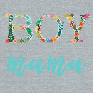Floral Boy Mama - Unisex Tri-Blend T-Shirt by American Apparel