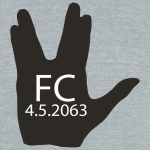 First Contact Day - Unisex Tri-Blend T-Shirt by American Apparel