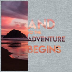 Adventure Begins - Unisex Tri-Blend T-Shirt by American Apparel