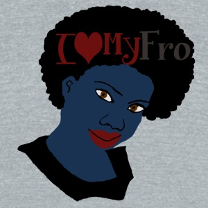 I Love My AFro Natural Hair TShirt - Unisex Tri-Blend T-Shirt by American Apparel