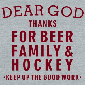 Hockey Lover - Beer, Family, Hockey - Unisex Tri-Blend T-Shirt by American Apparel