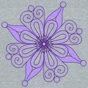 copito violeta - Unisex Tri-Blend T-Shirt by American Apparel