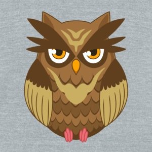 Brown Owl - Unisex Tri-Blend T-Shirt by American Apparel