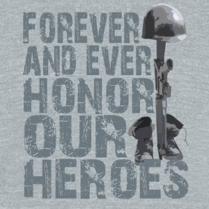 Honor Our Heroes - Memorial Day T-Shirt - Unisex Tri-Blend T-Shirt by American Apparel