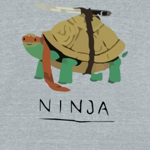 Ninja Turtle - Unisex Tri-Blend T-Shirt by American Apparel