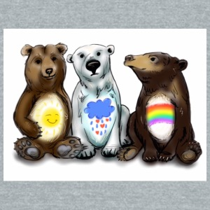 Some Seriously Caring Bears - Unisex Tri-Blend T-Shirt by American Apparel
