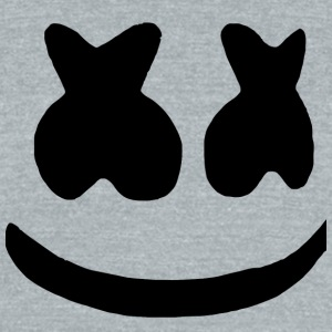 marshmello face - Unisex Tri-Blend T-Shirt by American Apparel