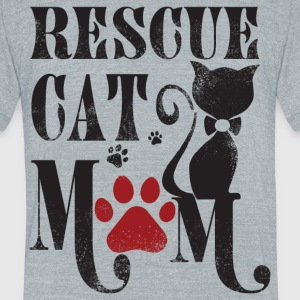 Rescue Cat Mom T Shirt - Unisex Tri-Blend T-Shirt by American Apparel