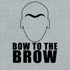 Bow To The Brow - Unisex Tri-Blend T-Shirt by American Apparel