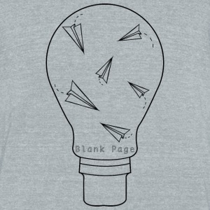 Blank Page Lightbulb - Unisex Tri-Blend T-Shirt by American Apparel