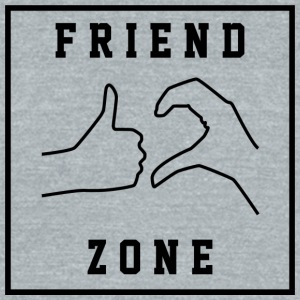 Friendzone | Romance, Valentines, Friends, Love - Unisex Tri-Blend T-Shirt by American Apparel