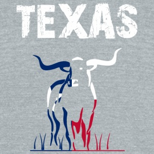 Nation-Design Texas Longhorn - Unisex Tri-Blend T-Shirt by American Apparel
