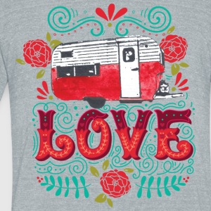 Vintage Camper Love - Unisex Tri-Blend T-Shirt by American Apparel