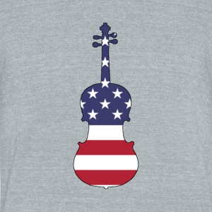 American Flag - Viola - Unisex Tri-Blend T-Shirt by American Apparel