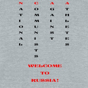 National communists against athletes - Unisex Tri-Blend T-Shirt by American Apparel