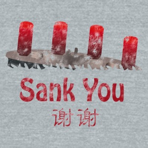 Chinglish 01 - Sank_You - Unisex Tri-Blend T-Shirt by American Apparel