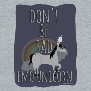 The Sad Emo Unicorn - Unisex Tri-Blend T-Shirt by American Apparel