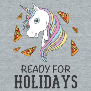 Ready for holidays Unicorn - Unisex Tri-Blend T-Shirt by American Apparel