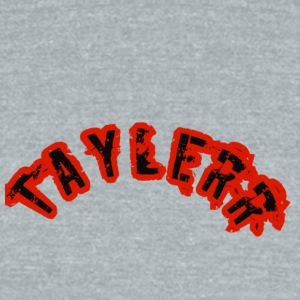 Taylerr Brand Arch logo // 1st collection of items - Unisex Tri-Blend T-Shirt by American Apparel