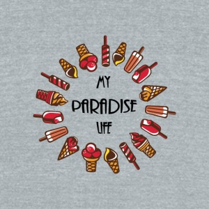 paradise life ice cream - Unisex Tri-Blend T-Shirt by American Apparel