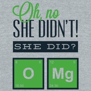 oh_no_she_didn-t - Unisex Tri-Blend T-Shirt by American Apparel