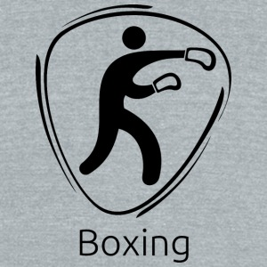 Boxing_black - Unisex Tri-Blend T-Shirt by American Apparel