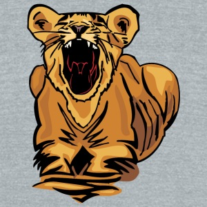 young_cute_lion - Unisex Tri-Blend T-Shirt by American Apparel