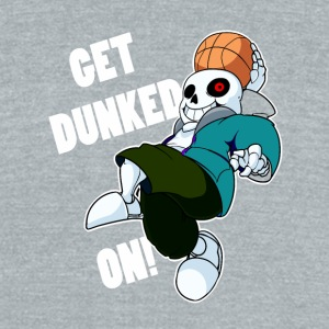 UNDERTALE GET DUNKED ON - Unisex Tri-Blend T-Shirt by American Apparel