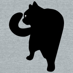 Cute and amazing cat - Unisex Tri-Blend T-Shirt by American Apparel