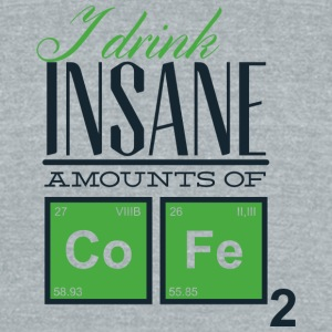 i_drink_insane_amount_of_cofe - Unisex Tri-Blend T-Shirt by American Apparel