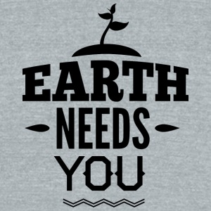 EARTH_NEED_YOU - Unisex Tri-Blend T-Shirt by American Apparel