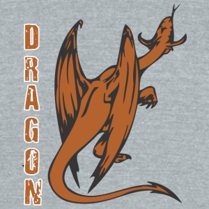 back_of_dragon_dolor - Unisex Tri-Blend T-Shirt by American Apparel