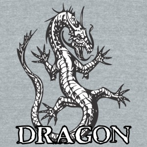 open_hand_dragon - Unisex Tri-Blend T-Shirt by American Apparel