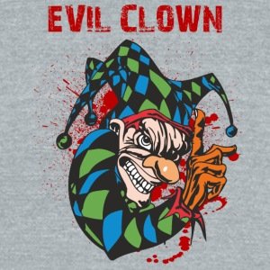 EVIL_CLOWN_2 - Unisex Tri-Blend T-Shirt by American Apparel