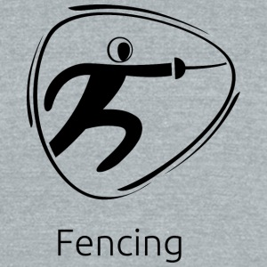 Fencing_black - Unisex Tri-Blend T-Shirt by American Apparel