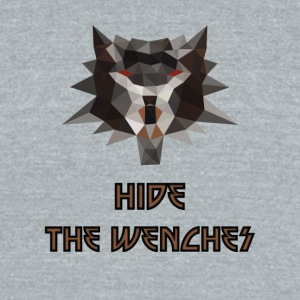 Witcher low poly hide the wenches - Unisex Tri-Blend T-Shirt by American Apparel