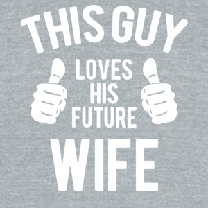This Guy Loves His Wife T Shirt - Unisex Tri-Blend T-Shirt by American Apparel