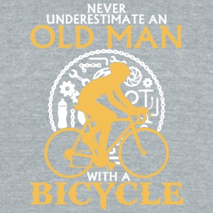 An Old Man With A Bicycle T Shirt - Unisex Tri-Blend T-Shirt by American Apparel