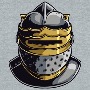 KNIGHT HELMET MASK - Unisex Tri-Blend T-Shirt by American Apparel