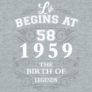 Life begins 58 1959 The birth of legends - Unisex Tri-Blend T-Shirt by American Apparel