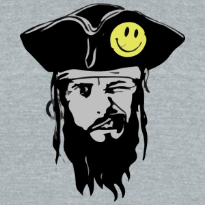 Pirate - Unisex Tri-Blend T-Shirt by American Apparel