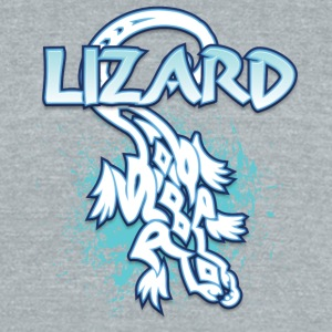 Lizard_with_text_32 - Unisex Tri-Blend T-Shirt by American Apparel