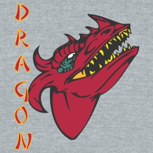 dragon_with_few_horns_color - Unisex Tri-Blend T-Shirt by American Apparel