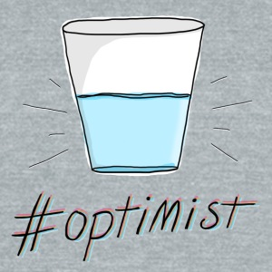 #Optimist - Unisex Tri-Blend T-Shirt by American Apparel
