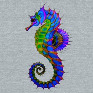 Vibrant Colored Seahorse - Unisex Tri-Blend T-Shirt by American Apparel
