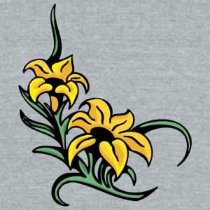 yellow_flowers - Unisex Tri-Blend T-Shirt by American Apparel